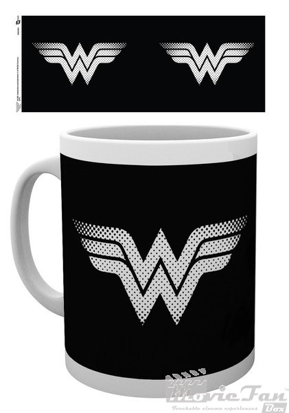 Wonder Woman hrnček (330 ml) - Monotone logo