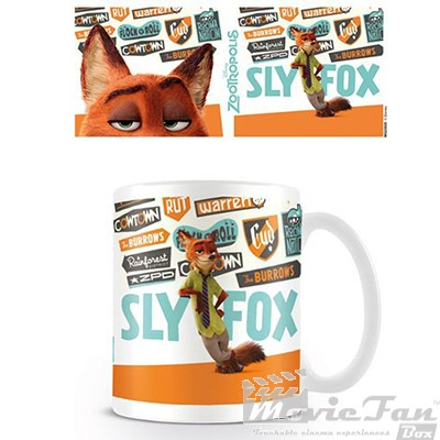 Zootropolis - Sly Fox hrnček (330ml)