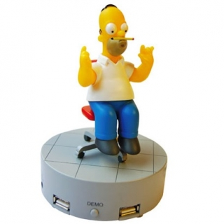 Homer Simpsons USB rozdelovač
