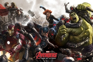 Avengers Age of Ultron plagát 61x91 cm - Battle