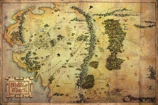The Hobbit An Unexpected Journey plagát 61x91 cm - Journey Map