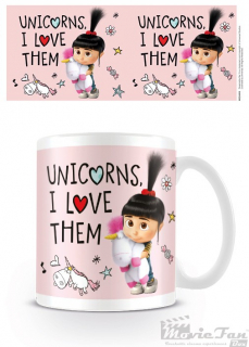 Ja, zloduch 3 - Unicorns I Love Them hrnček (330 ml)