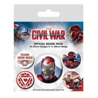 Civil War - Iron Man odznaky (5ks)