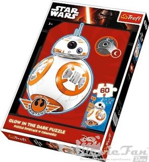 Star Wars - BB-8 svietiace puzzle 60 ks